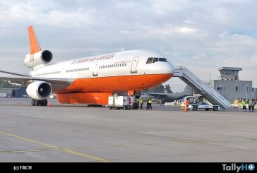 Ya está en Chile el 10 Tanker Air Carrier para combatir incendios forestales