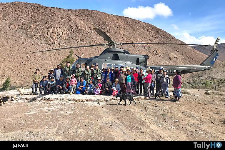 Operaciones Aéreas de la FACH en apoyo a las comunidades del Norte de Chile