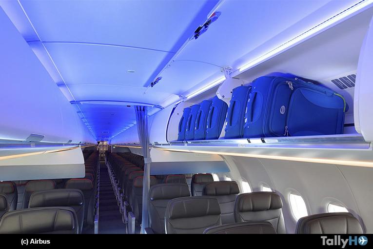 American Airlines lanza el servicio A321neo con cabina nueva con compartimientos de equipaje superiores más grandes