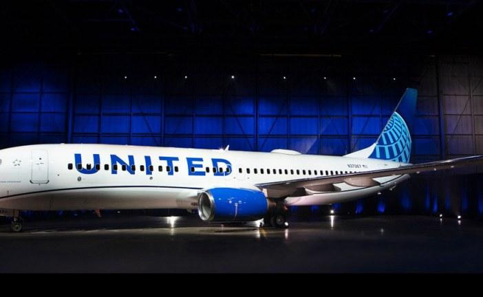 Aerolínea United reveló su nuevo diseño de «livery» en uno de sus aviones
