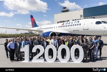 Airbus celebra la entrega de su avión número 12.000 consistente en un A220-100 a Delta Air Lines