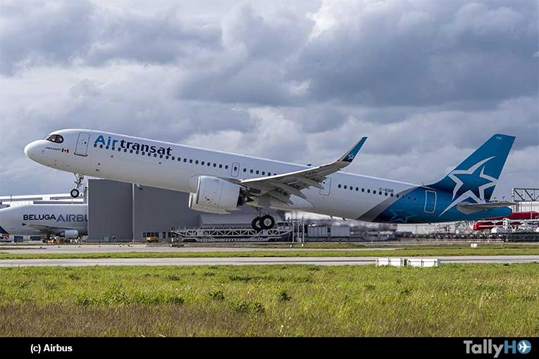 Airbus entrega el primer A321LR a Air Transat de Canadá