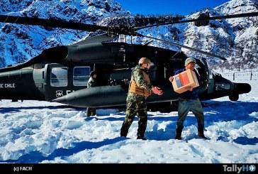 Despliegue de la Fuerza Aérea de Chile para ayuda a localidades afectadas de la zona Alto Biobío