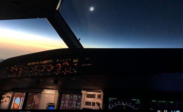 Eclipse Solar a bordo de vuelo JetSMART