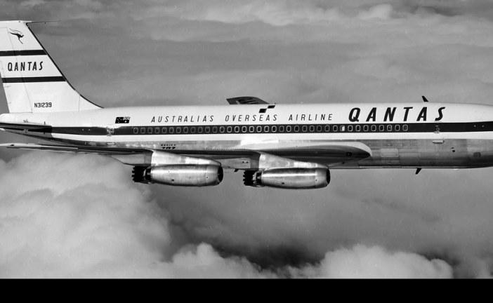A bordo del vuelo de Qantas que siguió el regreso de la misión Apollo 11
