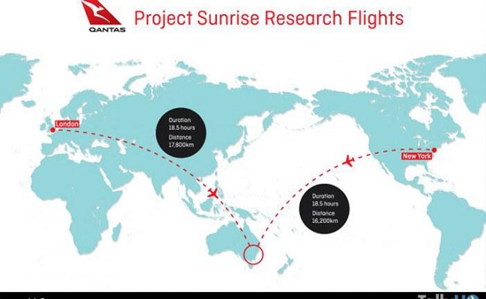 Qantas anuncia tres vuelos de ultra larga distancia con fines de investigación