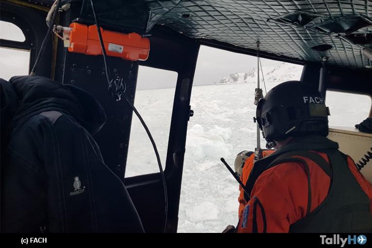 Fuerza Aérea de Chile realizó misión de búsqueda y salvamento en la Antártica