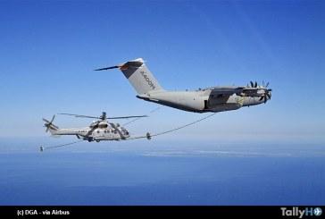 Airbus A400M realiza los primeros contactos secos con helicópteros en vuelo