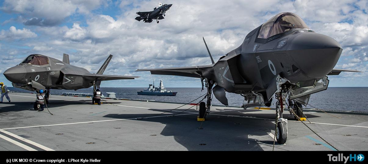 Primeros aterrizajes de F-35 británicos en el portaaviones HMS Queen Elizabeth