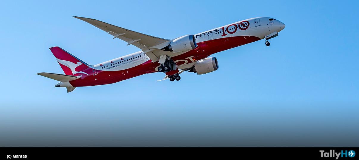 Celebraciones por el centenario de Qantas comienzan con el aterrizaje de vuelo de prueba Londres-Sídney
