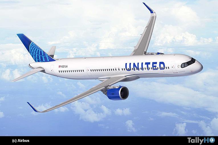 United Airlines ordena 50 Airbus A321XLR para la expansión de las rutas transatlánticas