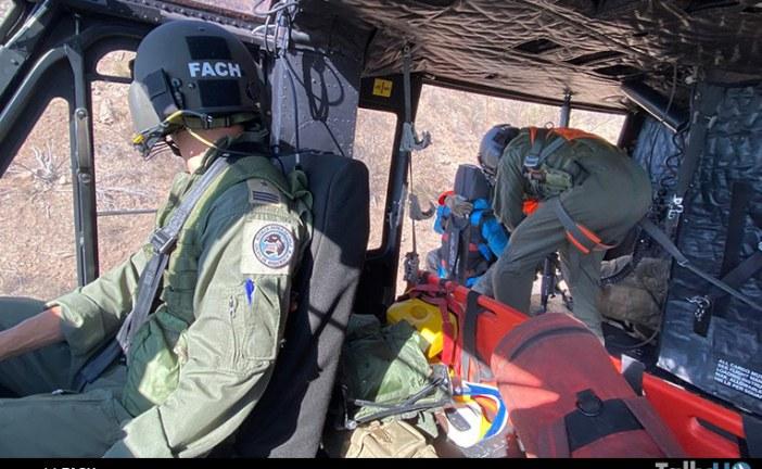 Fuerza Aérea de Chile realizó rescates a parapentistas durante competencia internacional