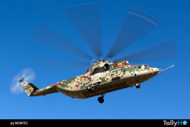 Comienzan pruebas para homologar el modernizado Mi-26T2V