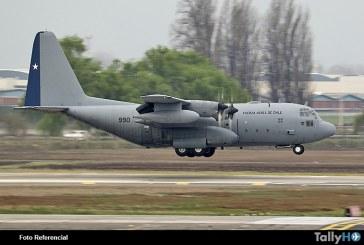 FACH declara siniestrado avión KC-130R en ruta a la Antártica
