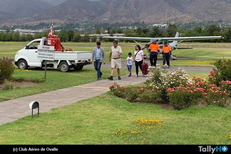 Exitoso transporte de niño para transplante realiza Club Aéreo de Ovalle