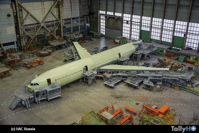 El nuevo IL96-400M inicia su ensamblaje final