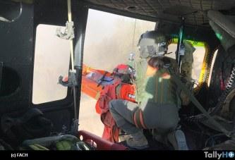 Fach rescata a parapentista en sector Las Vizcachas en la Región Metropolitana