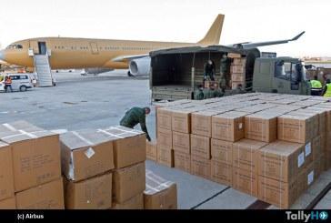 Airbus nuevamente transportó mascarillas para lucha contra COVID19