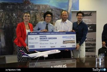 Airbus A350 de LATAM en Chile: Spotters Chile premia a ganador de concurso fotográfico
