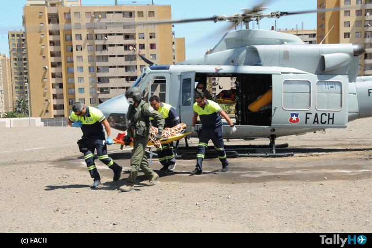 FACH realiza operaciones de EVACAM en Cariquima y Magallanes