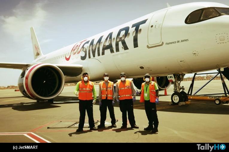 JetSMART realizó este domingo un vuelo especial desde Santiago a Trujillo de repatriación