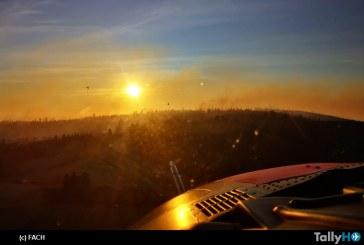 FACH colabora con labores de extinción de incendios forestales en Valparaíso