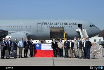 Fach trajo a Chile carga de ventiladores y otros insumos médicos desde China
