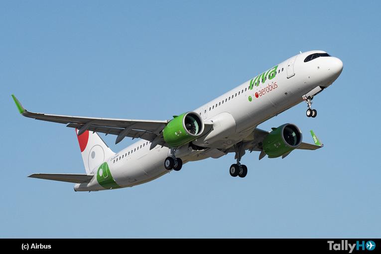 VivaAerobus recibe su primer Airbus A321neo