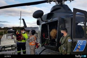 FACH realizó evacuación aeromédica de recién nacido prematuro