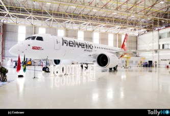 Embraer entrega el 1.600º avión E-Jet a Helvetic Airways