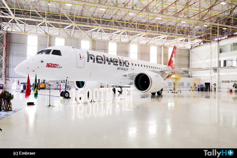 Embraer entrega el 1.600º avión E-Jet a Helvetic Airways