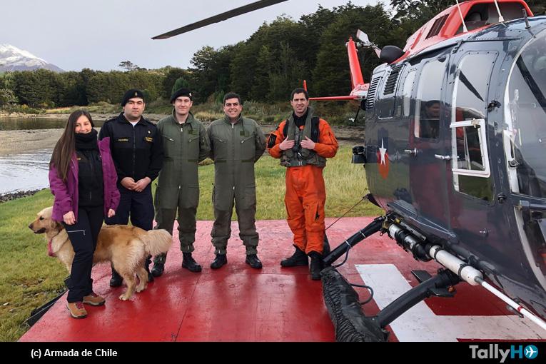 Armada realiza rondas médicas en el Beagle con helicóptero Bo-105
