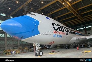 Cargolux presentó avión con esquema de «Mascarilla»