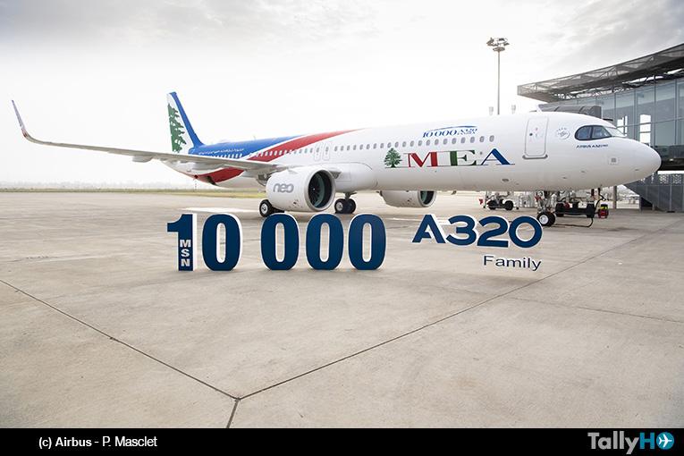 Airbus entrega el avión número de serie 10.000 de la Familia A320 a Middle East Airlines