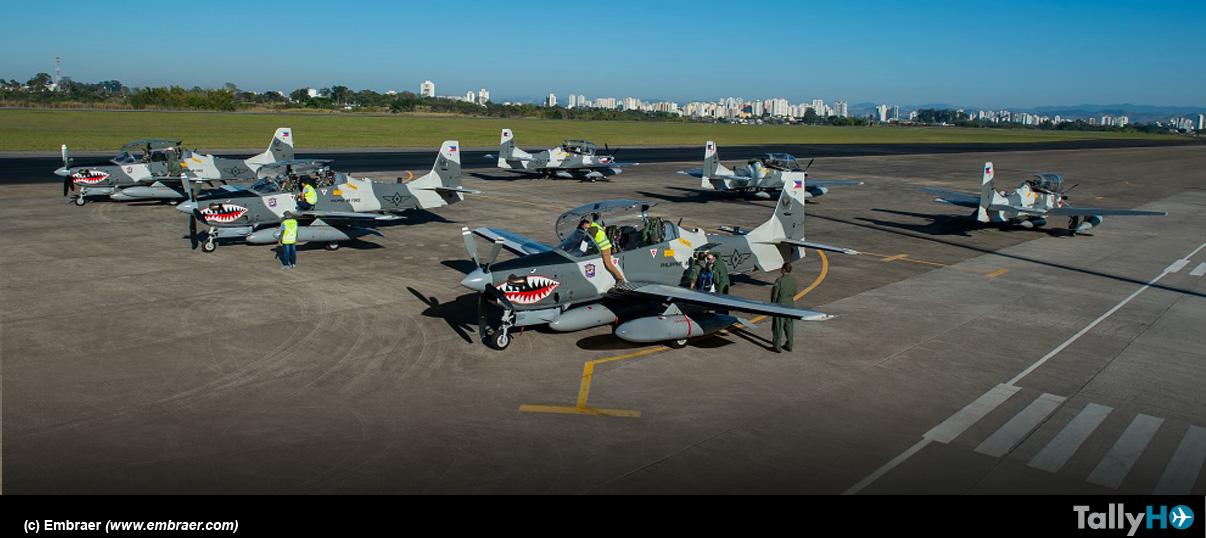 Embraer entrega oficialmente seis A-29 Super Tucano a Filipinas
