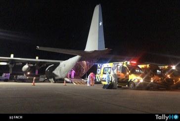 FACH realiza nuevo traslado de pacientes críticos de COVID19 desde Punta Arenas a Santiago
