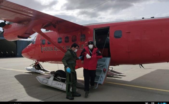 FACh efectuó evacuación aeromédica desde la Antártica