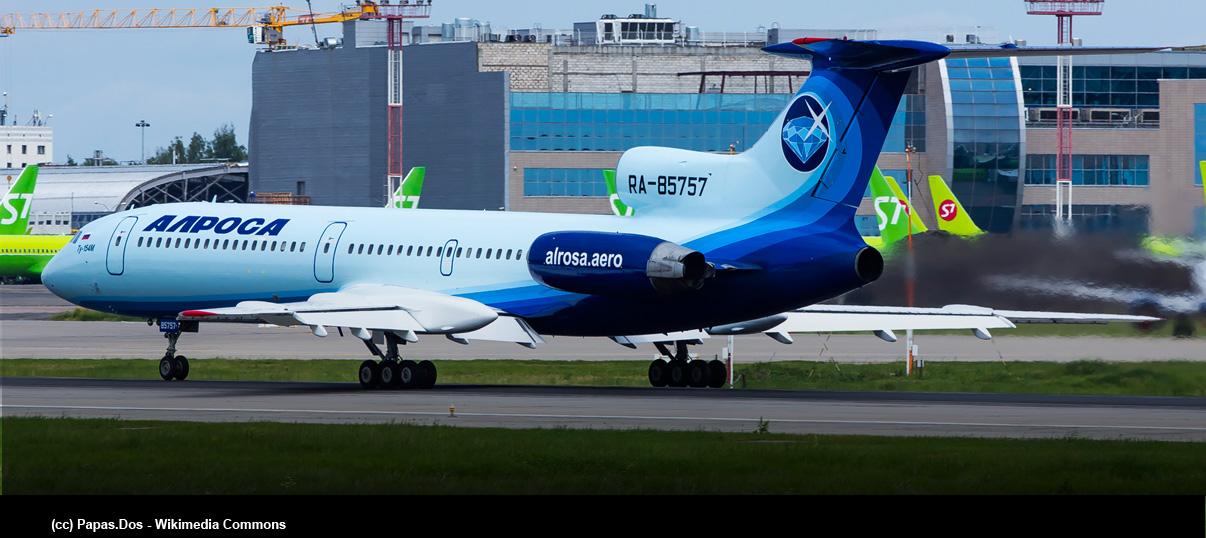 Último vuelo comercial del Tupolev Tu-154M