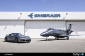 Exclusivo «dueto» colaboración entre Embraer y Porsche