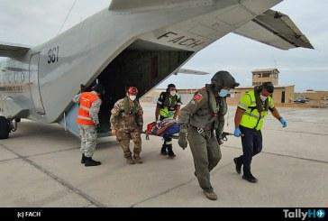 FACH realizó exitosa evacam desde Cariquima
