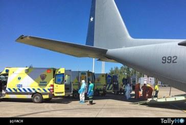 Fuerza Aérea realizó evacuación aeromédica de pacientes COVID-19 desde Temuco