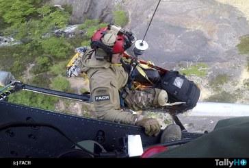 FACH rescata a arriero accidentado en Torres del Paine