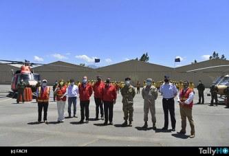 Presentación de medios de  las Fuerzas Armadas para apoyo al combate a los incendios forestales