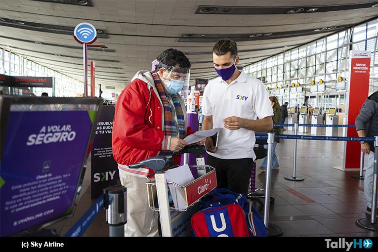 Sky refuerza plan de atención a pasajeros en aeropuerto Arturo Merino Benítez