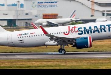 JetSMART detalla plan de sostenibilidad con llegada de primer avión de su flota con combustible ecológico