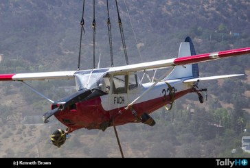 Cessna L-19 FACH realizó aterrizaje de emergencia y posterior recuperación de la aeronave