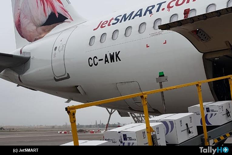 JetSMART realiza su segundo vuelo de carga con vacunas contra el Covid-19 a la isla de Chiloé