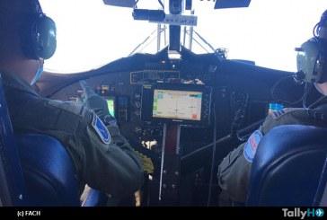 Fuerza Aérea apoya búsqueda de menor desaparecido en Región del Biobío