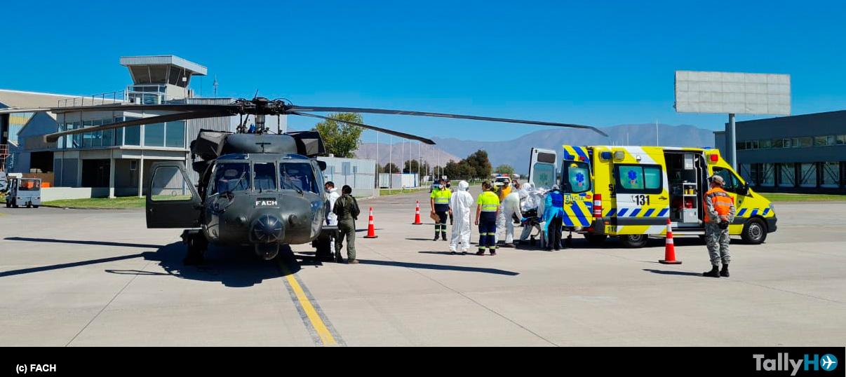 FACH realiza traslado de pacientes críticos con COVID19 desde Santiago a Talca