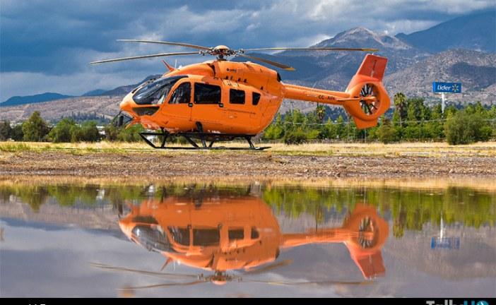 Ecocopter celebra las mil horas de vuelo del Airbus H145 único en su tipo en Chile